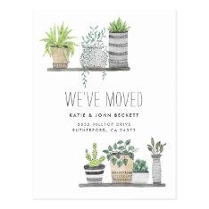 Garden Grown   Moving Announcement Postcard at Zazzle