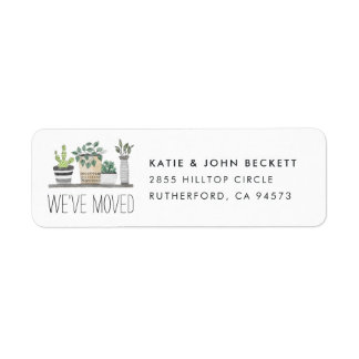 Garden Grown | Moving Announcement Return Address Label