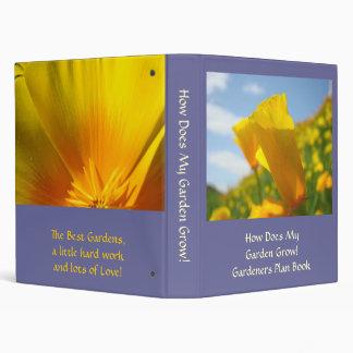 Garden Grows Binder Poppies Gardener Plan Book