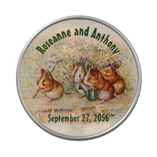 Garden Guinea Pigs Personalized Wedding Gift Jelly Belly Tin