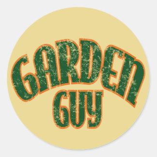 Garden Guy Classic Round Sticker