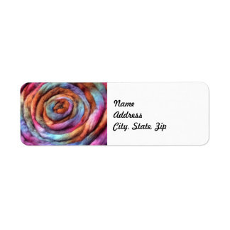 Garden Hand Dyed Roving Label