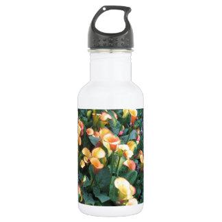 GARDEN Happiness: Flowers Golden Yellow Charm FUN Stainless Steel Water Bottle