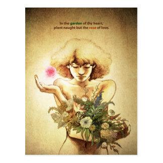 Garden Heart Postcard
