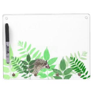 Garden Hedgehog Dry Erase Board With Keychain Holder
