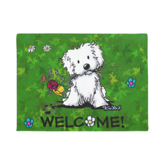Garden Helper Maltese Doormat