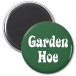 Garden Hoe 2 Inch Round Magnet