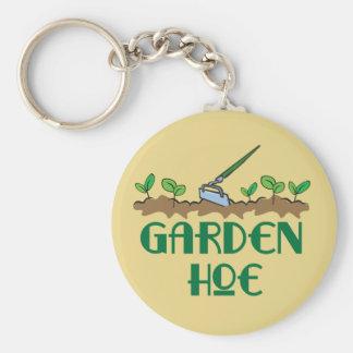 Garden Hoe Basic Round Button Keychain