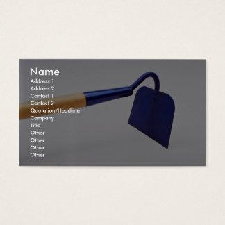 Garden hoe business card