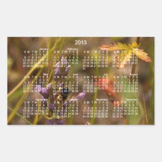 Garden HoneyBee; 2013 Calendar Rectangular Stickers