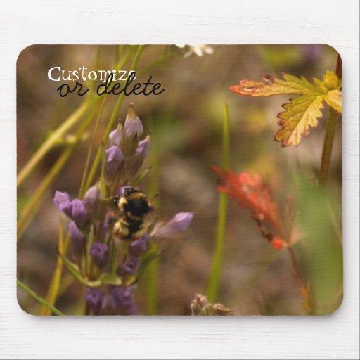 Garden HoneyBee; Customizable Mouse Pad