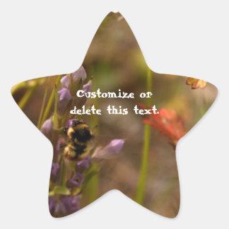 Garden HoneyBee; Customizable Star Sticker