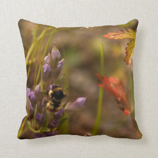 Garden HoneyBee; No Text Throw Pillow