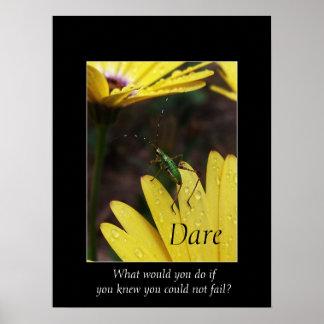 Garden Hopper Motivational Poster Print