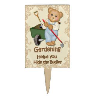 Garden Humor - Hide Body Plant Marker Cake Toppers