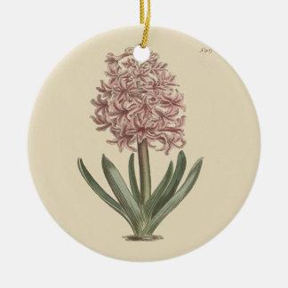 Garden Hyacinth Botanical Illustration Ceramic Ornament