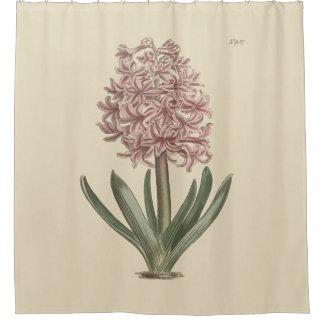 garden hyacinth botanical shower curtain