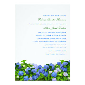 Garden Hydrangea Wedding Invitations, 5x7 Card