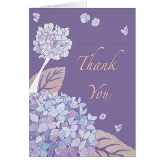 Garden Hydrangeas Thank You Card