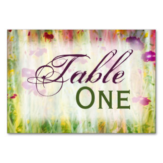 Garden Impression Table Card