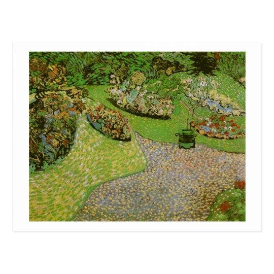 Garden in Auvers (F814) Van Gogh Fine Art Postcard
