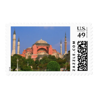 Garden in front of a museum, Aya Sofya Postage Stamps