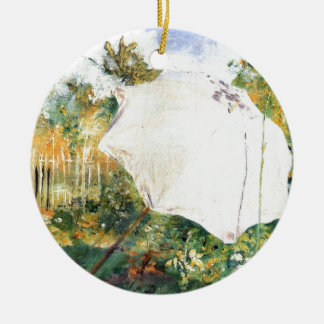 Garden in Grez -1883 Double-Sided Ceramic Round Christmas Ornament