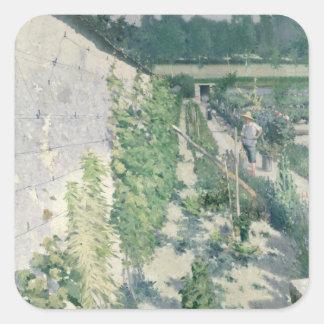 Garden in Grez, 1884 Square Stickers