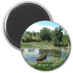 Garden in Guadeloupe 2 Inch Round Magnet