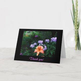 Garden in Light & Shadow Thank You card