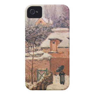 Garden in Louveciennes in the Snow Alfred Sisley iPhone 4 Case