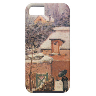 Garden in Louveciennes in the Snow Alfred Sisley iPhone SE/5/5s Case