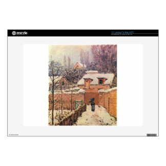 Garden in Louveciennes in the Snow Alfred Sisley Skins For Laptops