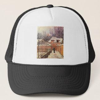 Garden in Louveciennes in the Snow Alfred Sisley Trucker Hat