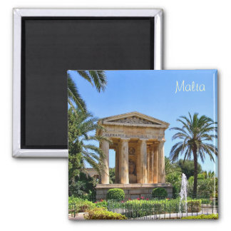 Garden in Malta in Valletta 2 Inch Square Magnet