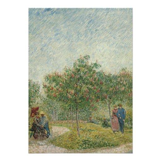 Garden in Montmartre with lovers Announcements