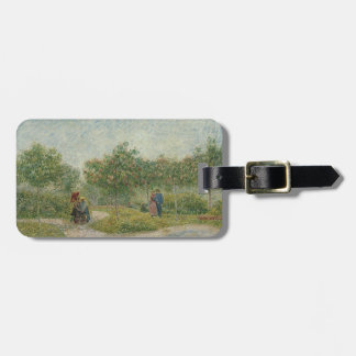 Garden in Montmartre with lovers Bag Tag