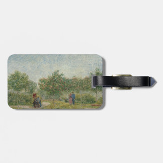 Garden in Montmartre with Lovers by Van Gogh Bag Tag