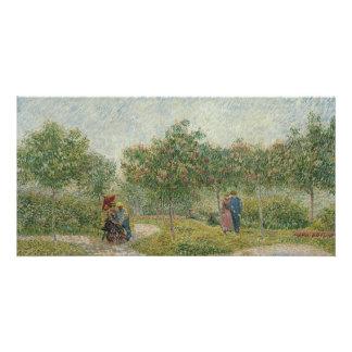 Garden in Montmartre with Lovers by Van Gogh Card