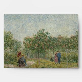 Garden in Montmartre with Lovers by Van Gogh Envelope