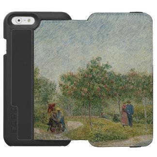 Garden in Montmartre with Lovers by Van Gogh iPhone 6/6s Wallet Case