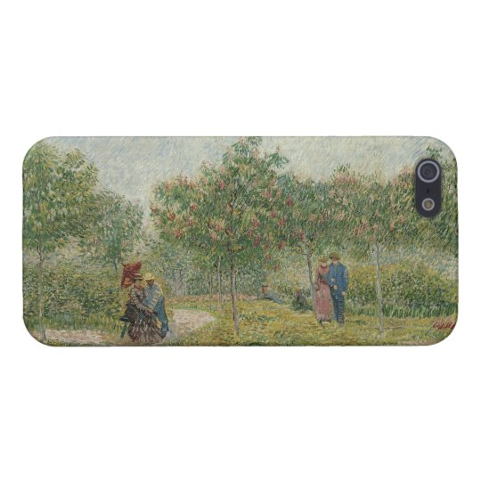 Garden in Montmartre with Lovers by Van Gogh iPhone SE/5/5s Cover