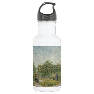 Garden in Montmartre with Lovers by Van Gogh Stainless Steel Water Bottle