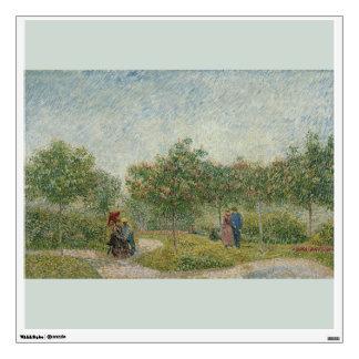 Garden in Montmartre with Lovers by Van Gogh Wall Sticker