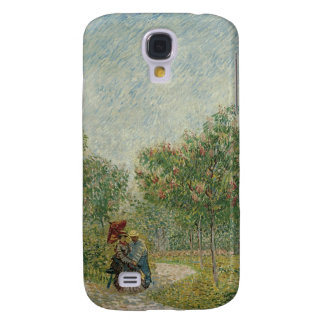 Garden in Montmartre with lovers Galaxy S4 Cover