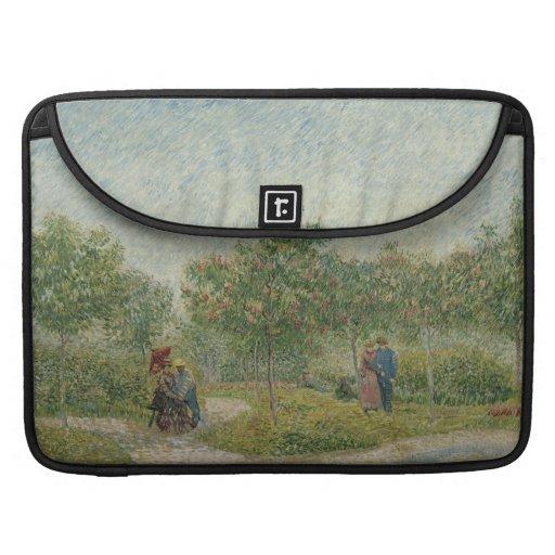 Garden in Montmartre with lovers Sleeve For MacBook Pro