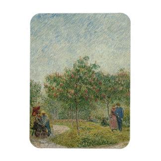 Garden in Montmartre with lovers Magnet