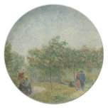 Garden in Montmartre with lovers Party Plates