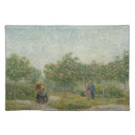 Garden in Montmartre with lovers Place Mats