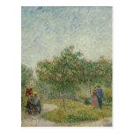 Garden in Montmartre with lovers Postcards